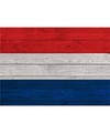 Horizontale vlag poster Holland 84 cm